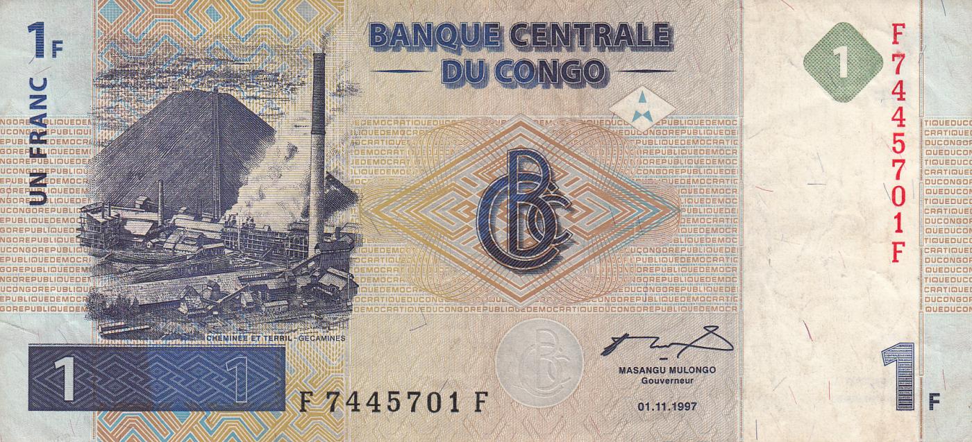 Francs p-104b 2013 UNC Banknote 20,000 Congo 20000 D.R