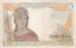 Image #1 of 5 Piastres ND (1936)