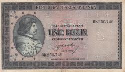 1000 Korun ND (1945) - SPECIMEN