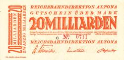 Image #1 of 20 Milliarden Mark 1923 (23. X.)