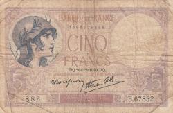 Image #1 of 5 Francs 1940 (26. XII.)