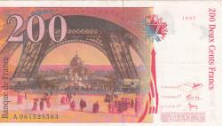 Image #2 of 200 Francs 1997