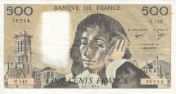 Image #1 of 500 Francs 1981 (2. VII.)