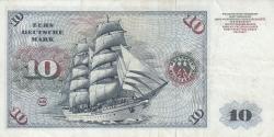 Image #2 of 10 Deutsche Mark 1970 (2. I.) - 2