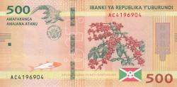 Image #2 of 500 Francs 2018 (4. VII.)