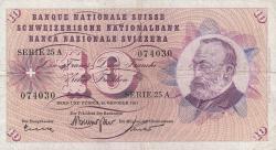 Image #1 of 10 Franken 1961 (26. X.) - signatures Otto Kunz / Dr. Brenno Galli / Dr. Riccardo Motta