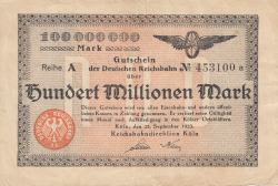 Image #1 of 100 Millionen (100 000 000) Mark 1923 (25. IX.)