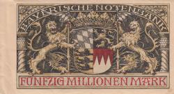 50 Millionen (50 000 000) Mark 1923 (20. VIII.)
