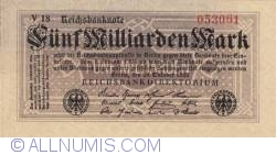5 Milliarden (5 000 000 000) Mark 1923 (20.X)