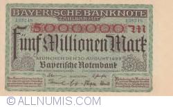 Image #1 of 5 Millionen (5 000 000) Mark 1923 (20. VIII.)