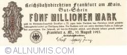 Image #1 of 5 Millionen (5 000 000)  Mark 1923 (10. VIII.)