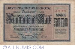 Image #1 of 5000 Mark 1922 (1. XII.)