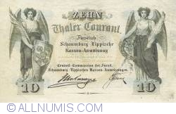 Reply - 10 Thaler 1857 (2. I.) - Reproduktion JF