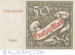 Reply - 50 Mark 1882 (10. I.) - Wertlos