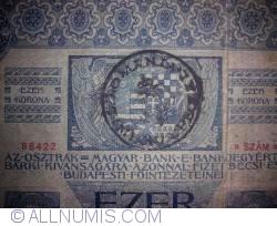 1000 Korona ND (1919 - old date 2.1.1902)