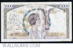Image #1 of 5000 Francs 1939 (19. X.)