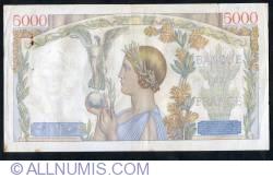 Image #2 of 5000 Francs 1939 (19. X.)