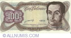 Imaginea #1 a 100 Bolivares 1989 (16. III.)