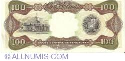 Imaginea #2 a 100 Bolivares 1989 (16. III.)