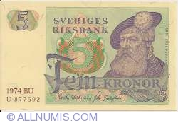 Image #1 of 5 Kronor 1974