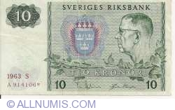 Image #1 of 10 Kronor 1963 - replacement note