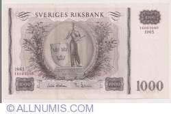 Image #1 of 1000 Kroner 1965