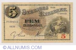 Image #1 of 5 Kronor 1936