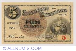 Image #1 of 5 Kronor 1940