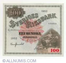 Image #1 of 100 Kronor 1952