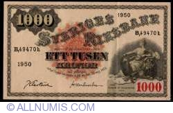 Imaginea #1 a 1000 Coroane Suedeze 1950