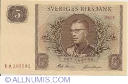 Image #1 of 5 Kronor 1954
