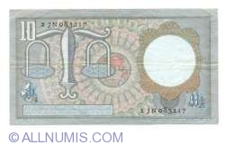 Image #2 of 10 Gulden 1953 (23. III.) - 1