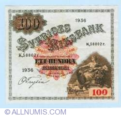 Image #1 of 100 Kronor 1936