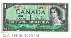 Imaginea #1 a 1 Dolar 1954 (1955-1961) - semnături Beattie / Coyne