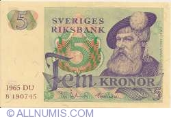 Image #1 of 5 Kronor 1965