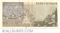 Image #2 of 2000 Lire 1983 (24. X.) - Signatures Carlo Azeglio Ciampi / Vittorio Stevani