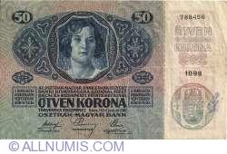 Image #1 of 50 Kronen ND(1919) (Overprint DEUTSCHOSTERREICH on 50 Kronen 1914 (2. I.) - Austria P#15)