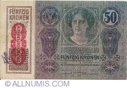 Image #2 of 50 Kronen ND(1919) (Overprint DEUTSCHOSTERREICH on 50 Kronen 1914 (2. I.) - Austria P#15)