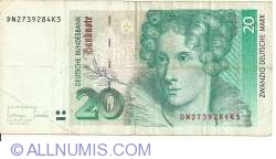 Image #1 of 20 Deutsche Mark 1993 (1. X.)