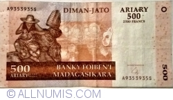 Image #1 of 500 Ariary = 2500 Francs 2004 (2014)