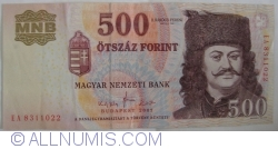 Imaginea #1 a 500 Forint 2007