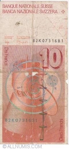 Image #2 of 10 Franken (19)82 - signatures Dr. Edmund  Wyss / Dr. Pierre Languentin (53)