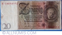 Image #1 of 20 Reichsmark 1929 (22. l.) - I