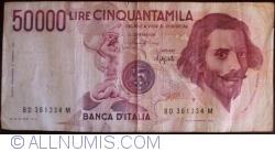 Image #1 of 50 000 Lire 1984 (6. II.) - Signatures Carlo Azeglio Ciampi/Fortunato Speziali