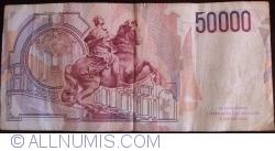 Image #2 of 50 000 Lire 1984 (6. II.) - Signatures Carlo Azeglio Ciampi/Fortunato Speziali