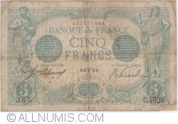 Image #1 of 5 Francs 1915 (27. III.)