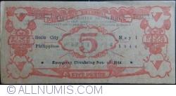Imaginea #2 a 5 Pesos 1944 (1. V.)