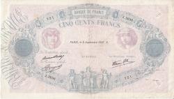 500 Francs 1937 (9. IX.)