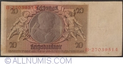 Image #2 of 20 Reichsmark 1929 (22. I.) - G