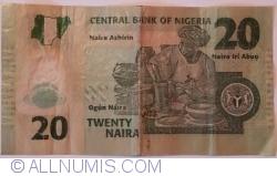 2014 Nigeria 20 Naira Women making Pottery//p34j UNC